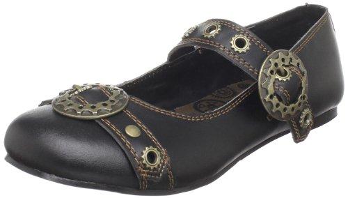 Demonia Daisy-09 - Gothic Punk Industrial Ballerinas Schuhe 36-43, Größe:EU-41/42 / US-11 / UK-8