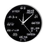 hysxm Números De Ingeniería Matemáticas Reloj De Pared Ecuación Matemática Reloj Decorativo Pop Quiz Arte De La Pared Ciencia Regalo para Matemáticos Frikis Y Maestros-12inch