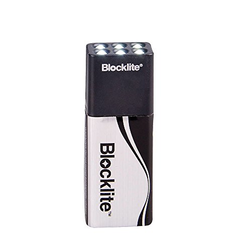 Lixada Blocklite - Linterna compacta de 9 voltios, muy luminosa, ideal para camping