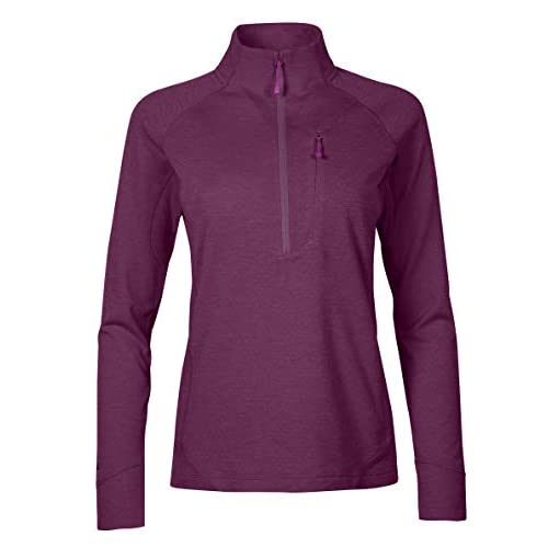 Rab Women's Nexus Pull-on Midlayer Fleece Top Light Weight Stretch 3/4 Zipped Front Chest Pocket