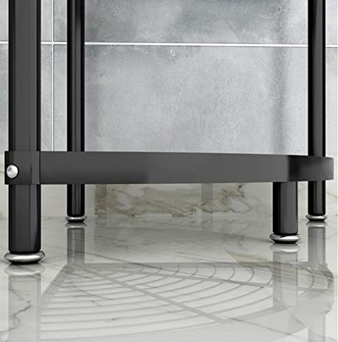 MAN KEN 4-Tier Kitchen pot rack,Cookware Stand Storage Organizer Multi-layer Corner Shelf Stainless Steel Shelves Shelf Holder