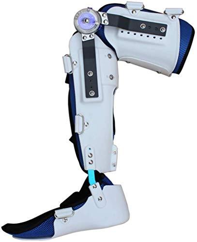 Rodilleras médicas Pedales Estaticos ROM con bisagras ajustable del tobillo hasta la rodilla Inmovilizador aparatos ortopédicos pata estabilizadora de LCA, ligamento, lesiones deportivas