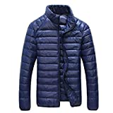 Autumn Casual Jacket Men Ultra Light Winter Warm Parkas Coat Waterproof Lightweight White Duck Downs Jacket Men Outwear