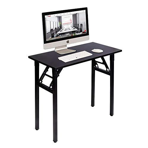 Need Mesa Plegable 80x40cm Mesa de Ordenador Escritorio de Oficina Mesa de Estudio Puesto de Trabajo Mesas de Recepción Talla Grande,AC5CB-8040