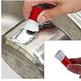 BYFRI Limpiador Mágico Cepillo De Acero Inoxidable Palillo De Óxido De Metal Pulidora para La Limpieza De La Cocina 2pcs