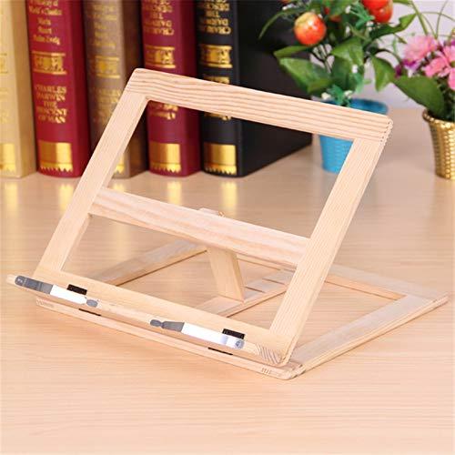 Organizador de archivos Fácil lectura plegable del marco de madera de pino de lectura estantería el libro de lectura del soporte de Tablet PC soporte de la ayuda Mesa Revistero