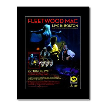 Music Ad World Mini-Poster, Fleetwood Mac - Live In Boston, 28,5 x 21 cm
