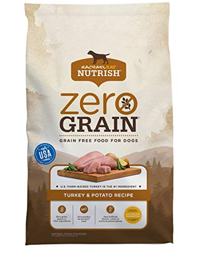 Rachael Ray Nutrish Zero Grain Natural Dry Dog Food, Turkey & Potato Recipe, 14 Pounds, Grain Free