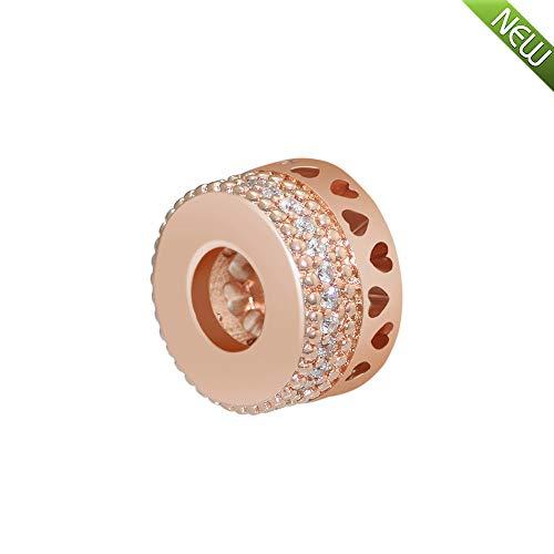 PANDOCCI 2018 per-Herbst-Kollektion Rose Herzen Perlen DIY Passt für Original Pandora Armbänder Charme Modeschmuck