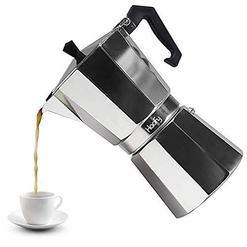 Cafeteras italianas de Acero Inoxidable Cafetera Espresso Moka Express Cafetera de Aluminio, 3 tazas / 6 tazas / 9 tazas / 12 tazas(600ML 12cups)