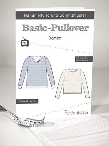 Papierschnittmuster Basic-Pullover Damen