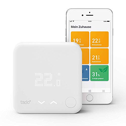 tado° Smartes Thermostat Starter Kit V3+ (Raumthermostat, Intelligente Heizungssteuerung, kompatibel mit Amazon Alexa, Apple HomeKit, Google Assistant, IFTTT)