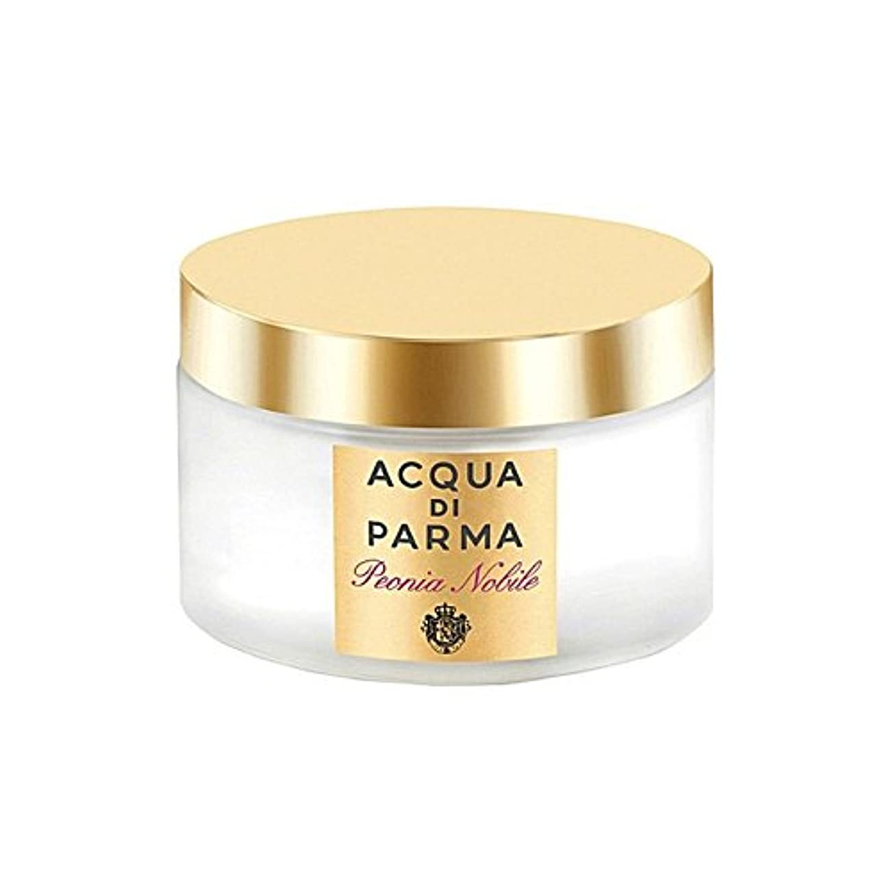 安全不正確泣くアクアディパルマノビレボディクリーム150ミリリットル x4 - Acqua Di Parma Peonia Nobile Body Cream 150ml (Pack of 4) [並行輸入品]