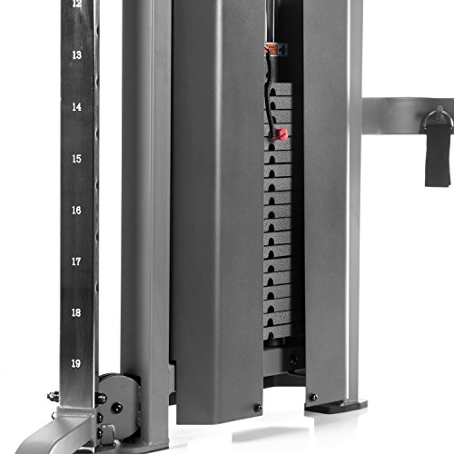 XMark Functional Trainer Cable Machine with Dual 200 lb Weight Stacks, 19 Adjustments, and Accessory Package XM-7626
