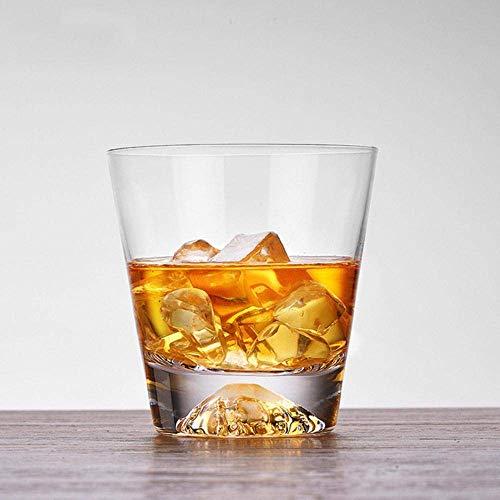 Kristallen glas transparante sneeuwberg dikke bodem wijn glas wijn glas cocktail whiskey cognac mok van het bierglas, korte paragraaf, 300-400ml lili (Color : Short Paragraph, Size : 300400ml)