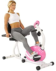 دراجة جارية مغناطيسية للتمرين والحفاظ على الصحة واللياقة البدنية من ساني هيلث اند فيتنس، لون زهري P8400