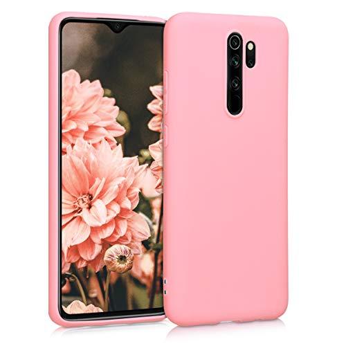 kwmobile Funda Compatible con Xiaomi Redmi Note 8 Pro - Carcasa de TPU Silicona - Protector Trasero en Rosa Pastel Mate