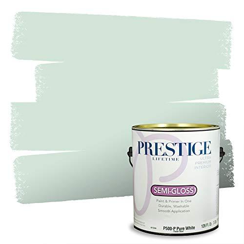 PRESTIGE Interior Paint and Primer in One, Winter Sage, Semi-Gloss, 1 Gallon