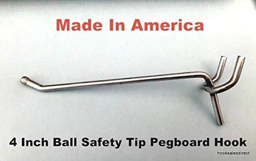Trion Brand (50 Pack) 4 Inch All Metal Peg Hooks 1/8' to 1/4' Pegboard, Slatwall, Garage kit