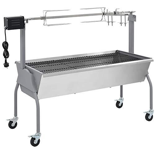 vidaXL Spanferkelgrill Lammgrill BBQ Barbecue Grillwagen Grill Hänchengrill