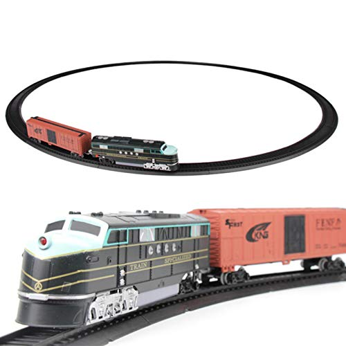 Coyan Industrial Small Train Rail Toy Set, Classic Retro Electric Toy Train with Tracks,Electric Passenger Train Kit, Super Long Model High-Speed Rail Toy Best Service