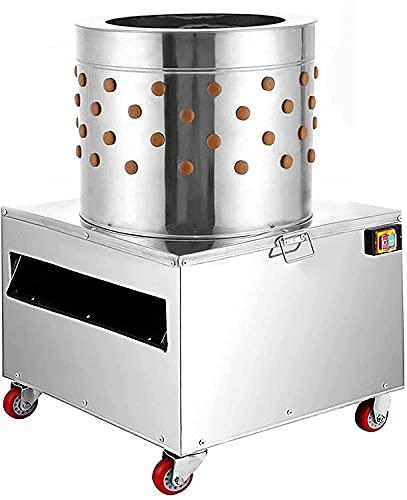 N/A/A Chicken Plucker Machine, 1500W 275r/min Chicken Poultry Plucker Machine, Stainless Steel 20 Inch Chicken Plucker, Feather Plucking Machine for Poultry Chicken, Bird, Duck, Turkey, Quail