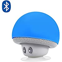 Altavoz Portátil, Alfort Altavoz Bluetooth Mini Wireless Audio Música eSoporte Teléfono Microfono Incorporato con Ventosa Forma de Hongo para iPhone 7/8/X Galaxy S9/S9 Plus/iPod (Azul)