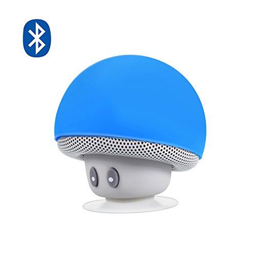 Alfort Bluetooth Lautsprecher, Bluetooth Tragbarer Mini Wireless Speaker Eingebautem Mikrophone Freisprechen Lautsprecher Für Smartphones Tablets iPads andere Bluetooth Geräte (Blau)
