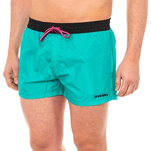 Diesel Herren Badeshorts - BMBX-Sandy, Swimshorts, Boxershorts, Mesheinsatz, Uni (Wassergrün (5HY), XL (X-Large))