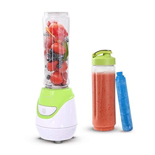 Aigostar Greenberry 30JHU - Batidora de vaso portátil, 600W, tubo refrigerante, incluye 2 vasos portátiles de Tritan de 600 ml