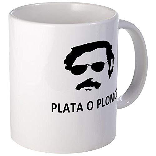 N\A Plata O Plomo Mugs Unique Coffee Mug, Coffee Cup