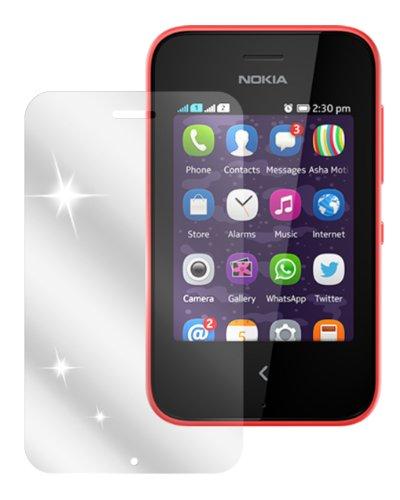 dipos I 2X Schutzfolie klar kompatibel mit Nokia Asha 230 Folie Bildschirmschutzfolie
