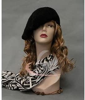 (MD-TinaF3) ROXY DISPLAY Realistic Female Mannequin Head Flesh Tone Pretty Make-up. Ears Pierced