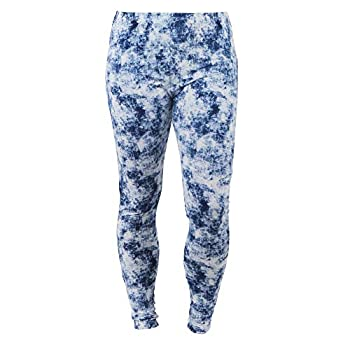 Hello Mello Lounge Luxe Women s Modern Print Fitted Soft Stretch Leggings Blue