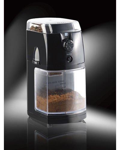 Rosenstein & Söhne Espresso Mühle: Elektrische Kaffeemühle mit hochwertigem Scheibenmahlwerk (Kaffeemahlwerk)
