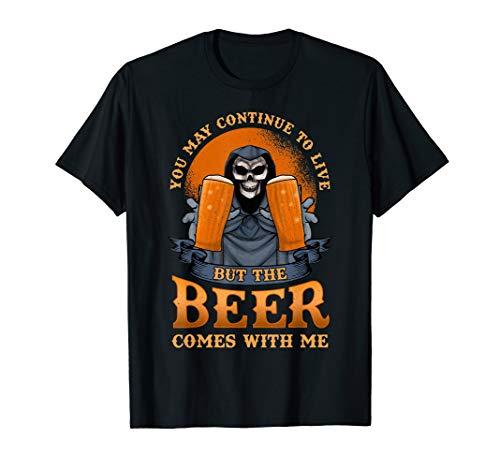 Grim Reaper Bier Dark Goth Beer Trinken T-Shirt