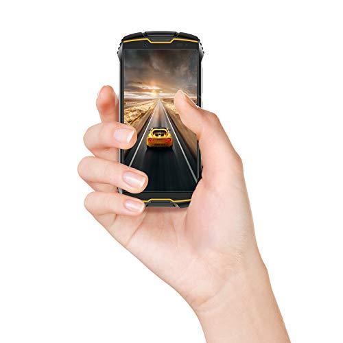 Cubot Kingkong Mini 2 Smartphone d'extérieur sans contrat, écran 4 pouces, double SIM, étanche, résistant aux chocs et à la poussière, 3 Go + 32 Go, Android 10.0, GPS + boussole (noir + orange)