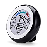 8. Mini Indoor Thermometer Digital Hygrometer Room Thermometer Meter and Humidity Gauge with Temperature Humidity Monitor ,Black