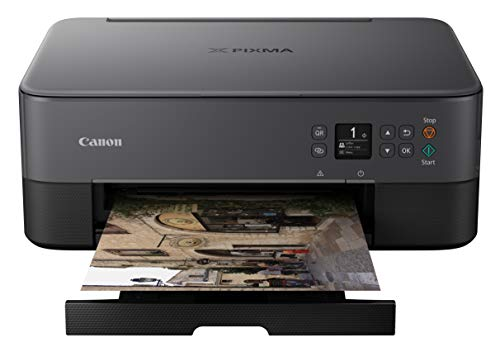 Canon Pixma TS5320 Wireless All In One Printer, Scanner, Copier with AirPrint, Black, Amazon Dash Replenishment enabled