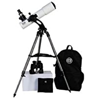 Bresser AR102S Comet-Series Refractor Telescope Kit with Bag and Binocular, 102mm f/4.5