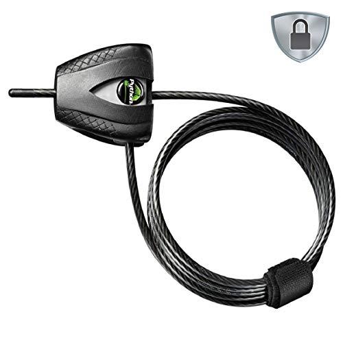 Master Lock 8417DPRO - Candado antirrobo de cable (1,80 m x 5 mm)
