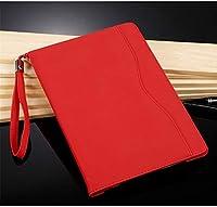Moogukadan ipad Pro 10.5 /Air3 ケース 2017/2019 タブレット保護ケース 全面保護型 ハンドストラップ付き スタンド機能 横向き縦向き ボタンで分離する 高級PUレザー カード収納 収納ポケット耐衝撃 リングベルト付き (iPad Pro 10.5/Air3(2017/2019), 赤)