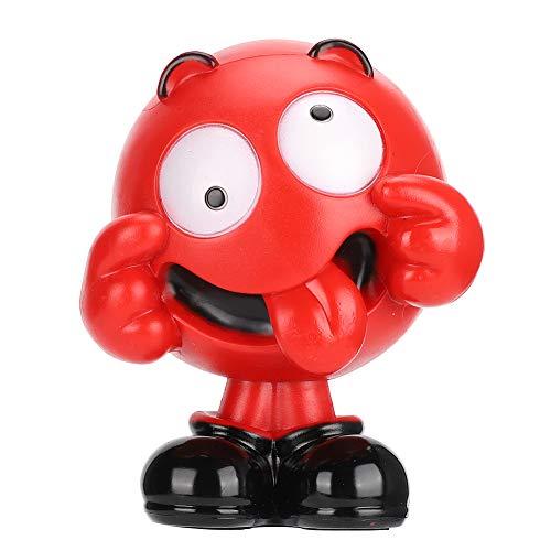 Dpofirs Altavoz Bluetooth inalámbrico, batería de Litio Recargable de 500 mAh, Reproductor de música de Escritorio Rojo Soporte para Tarjeta de Memoria enchufable y Disco U y Radio FM Rojo