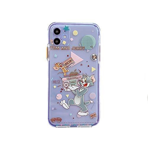 POCOCO トムとジェリー クリアケース iphone11 透明 スマホケース クリア iphoneケース TOM&JERRY かわいい iphone11pro アイフォンケース iphone xr (サイズ : Pro)
