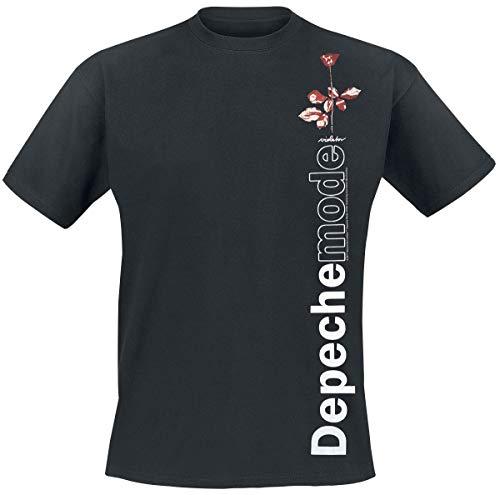 Depeche Mode Violator Side Rose Uomo T-Shirt Nero L 100% Cotone Regular