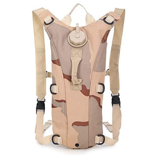 XBJSY Bolsa de agua de 3 l con sistema de hidratación de 100 onzas, mochila de agua para camping, para senderismo, caza, supervivencia SNGLZ (color: F)