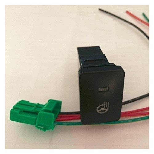 ZIS Interruptor de calefacción de la Volante de 12V-24V TOYOTAA TOYOTAA LED LED de Interruptor de Empuje con Alambre (Color : Red LED Color)