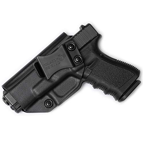 Glock 17 19 22 23 26 27 31 32 33 45 (Gen 1-5) IWB Holster - Combat Veteran Owned Company - Inside The Waistband Concealed Carry - Adjustable Retention and Cant (Left-Hand Draw (IWB))