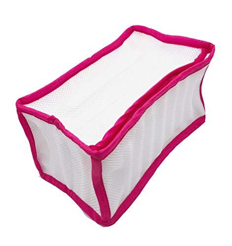 Logic(ロジック) シューズ用洗濯ネット (ピンク) 洗濯機用ネット [上履き/スリッパ/スニーカー] メッシュ素材 防音クッション付