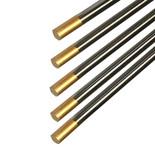 Electrodo de tungsteno WL15 (oro), soldadura TIG adecuada para acero no aleado, acero de alta aleación, aleación de aluminio, aleación de titanio, aleación de níquel, etc.